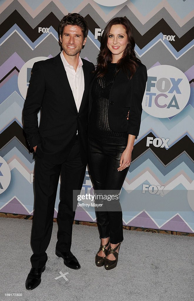 Commentator Kyle Martino and actress Eva Amurri Martino arrive at the 2013 TCA Winter Press Tour - FOX All-Star Party at The Langham Huntington Hotel and Spa on January 8, 2013 in Pasadena, California.