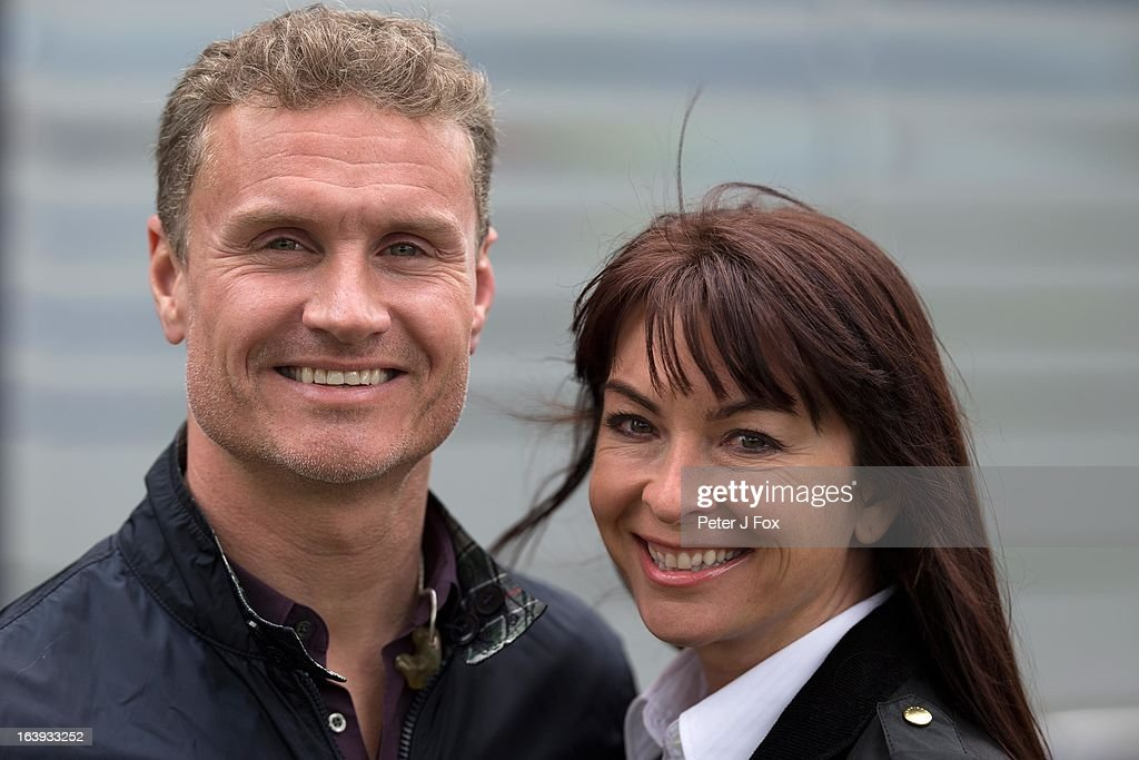 BBC commentators David Coulthard and Suzi Perry of Great Britain pose during the Australian Formula One Grand Prix at the Albert Park Circuit on March 17, 2013 in Melbourne, Australia.