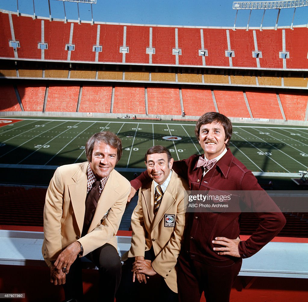 FOOTBALL - Commentators gallery - 7/1/75 Frank Gifford, Howard Cosell, Don Meredith