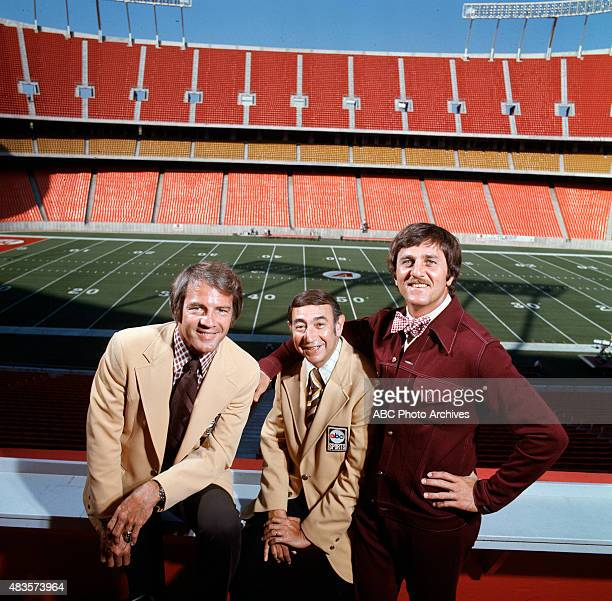FOOTBALL Commentators gallery 7/1/75 Frank Gifford Howard Cosell Don Meredith Mandatory credit ABC PHOTO ARCHIVES