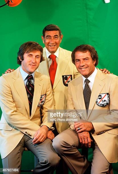 FOOTBALL Commentators gallery 8/13/79 Fran Tarkenton Howard Cosell Frank Gifford