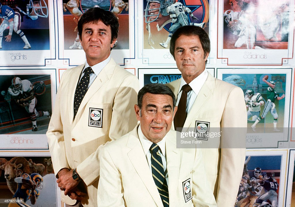 FOOTBALL - Commentators gallery - 9/16/80 Don Meredith, Howard Cosell, Frank Gifford