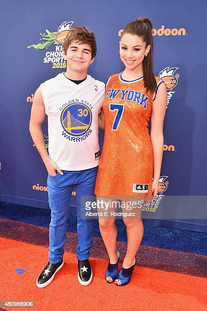 Commentators Jack Griffo and Kira Kosarin attend the Nickelodeon Kids' Choice Sports Awards 2015 at UCLA's Pauley Pavilion on July 16 2015 in...