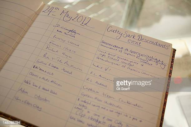 Comments in the Cutty Sark guest book written by descendants of Cutty Sark crew were united for the first time ever on board the historic clipper in...