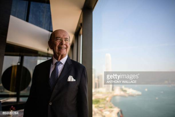 US Commerce Secretary Wilbur Ross poses before a round table briefing in Hong Kong on September 27 2017 Ross on September 27 said he was optimistic...