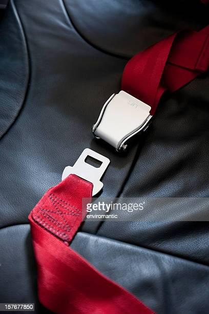 Commercial airliner seat belt.