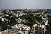 Commercial and residential buildings stand in Bangalore India on Sunday May 3 2015 India's Finance Minister Arun Jaitley is striving for a goods and...