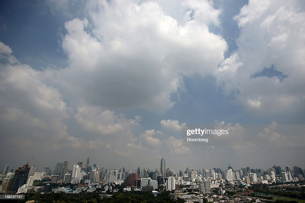 Commercial and residential buildings stand in Bangkok, Thailand, on Tuesday, Dec. 11, 2012. The Crown Property Bureau owns about 41,300 rai (66 square kilometers) of land across the country, about a fifth of which is in Bangkok, according to Aviruth Wongbuddhapitak, an adviser to the CPB who sits on the board of two of its subsidiaries. Photographer: Dario Pignatelli/Bloomberg via Getty Images