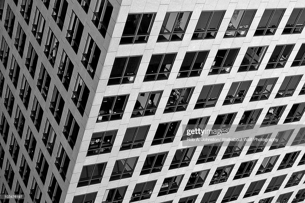 Commercial building windows : Stock Photo