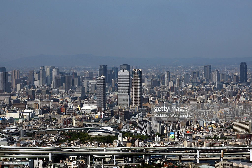 Commercial buildings are seen on May 17, 2013 in Osaka, Japan. Japan's economy recently shows the sign of recovery as the growth of last quarter was 0.9 percent, or 3.5 percent on annual basis.