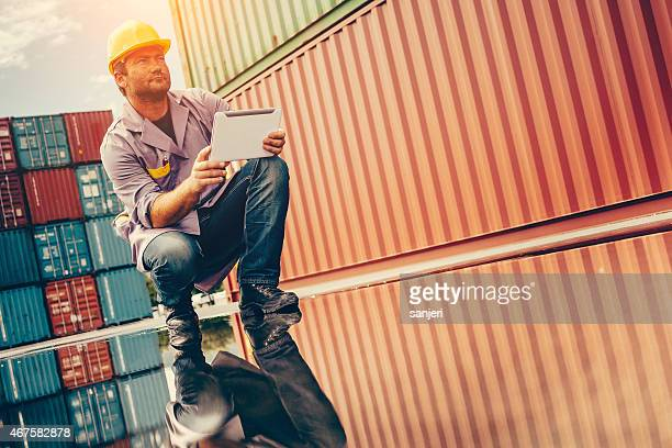 Commercial docks worker