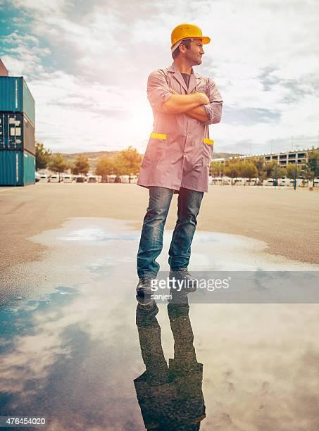 Commercial docks worker portrait