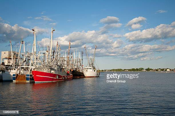 Commercial fishing boats in Cape May Harbor