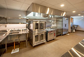 New, unused commercial kitchen.