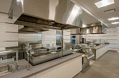New, usused commercial kitchen.