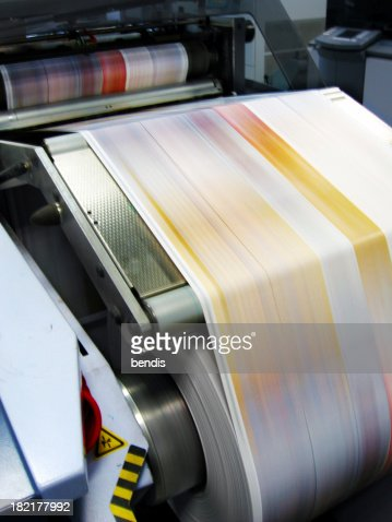 Commercial laser printer.