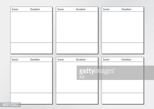 Tv Commercial Storyboard Template X6 Stock Photo | Thinkstock