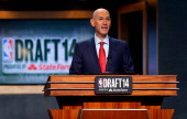 Commissioner Adam Silver commences the 2014 NBA Draft at Barclays Center on June 26 2014 in the Brooklyn borough of New York City NOTE TO USER User...
