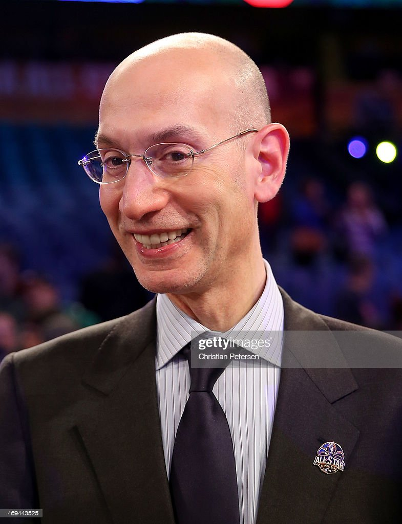 NBA commissioner Adam Silver walks off the court after the BBVA Compass Rising Stars Challenge 2014 as part of the 2014 NBA Allstar Weekend at the Smoothie King Center on February 14, 2014 in New Orleans, Louisiana.