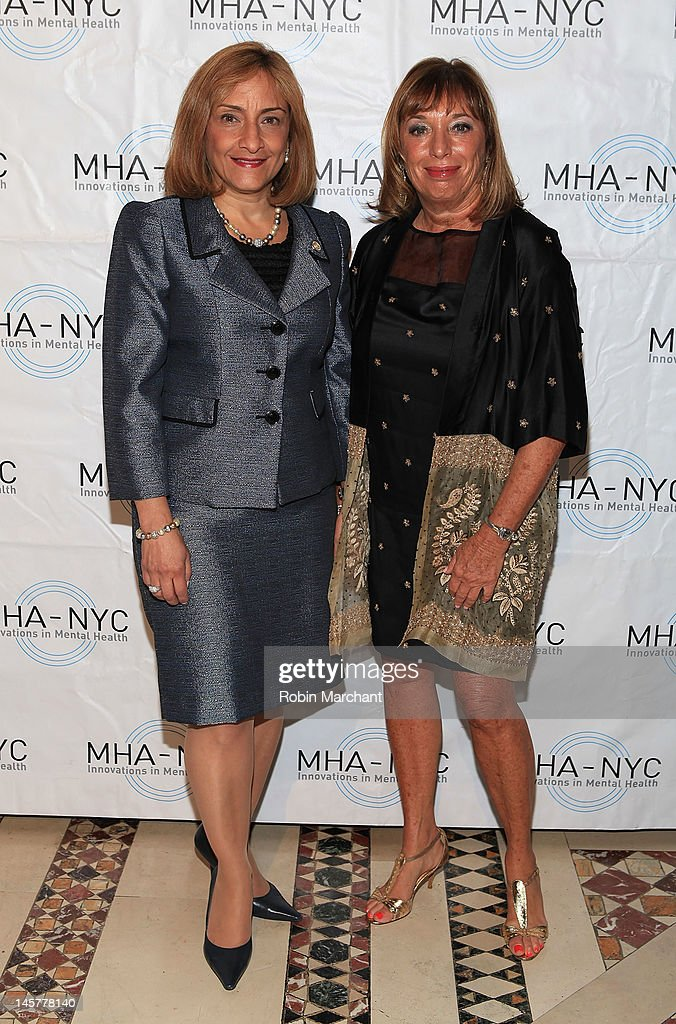 Commissioner Arlene Gonzalez Sanchez (L) and Giselle Stolper attend Bridges To Mental Health: A Celebration Of Hope Gala at Cipriani 42nd Street on June 5, 2012 in New York City.