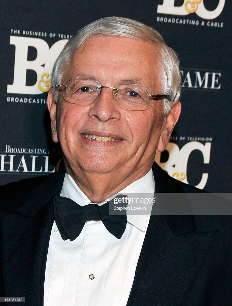 Commissioner David Stern attends The 2012 Broadcasting & Cable Hall Of Fame Awards at The Waldorf=Astoria on December 17, 2012 in New York City.