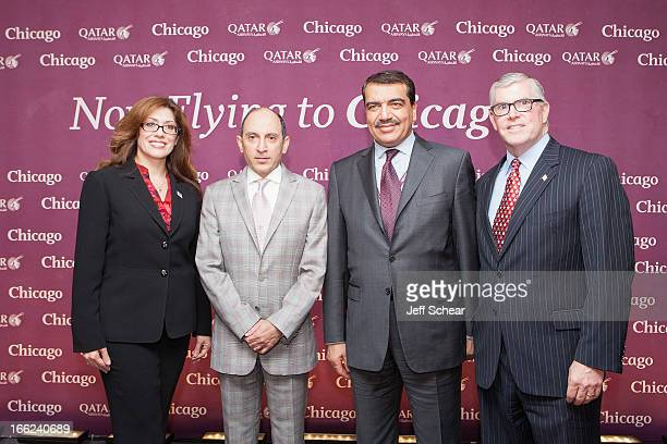 Commissioner for Chicago Department of Aviation Rosemarie Andolino CEO of Qatar Airways Akbar Al Baker State of Qatar's Ambassador to the United...