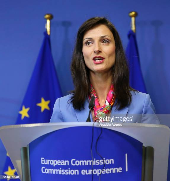 Commissioner for Digital Economy and Society Mariya Gabriel and member of the European Parliament Miapetra KumpulaNatri hold a joint press conference...