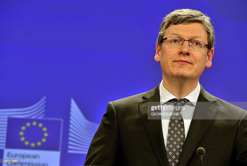 EU commissioner for Employment Social Affairs and Inclusion Hungary's Laszlo Andor takes part in a press conference for the launch of the Healthy...