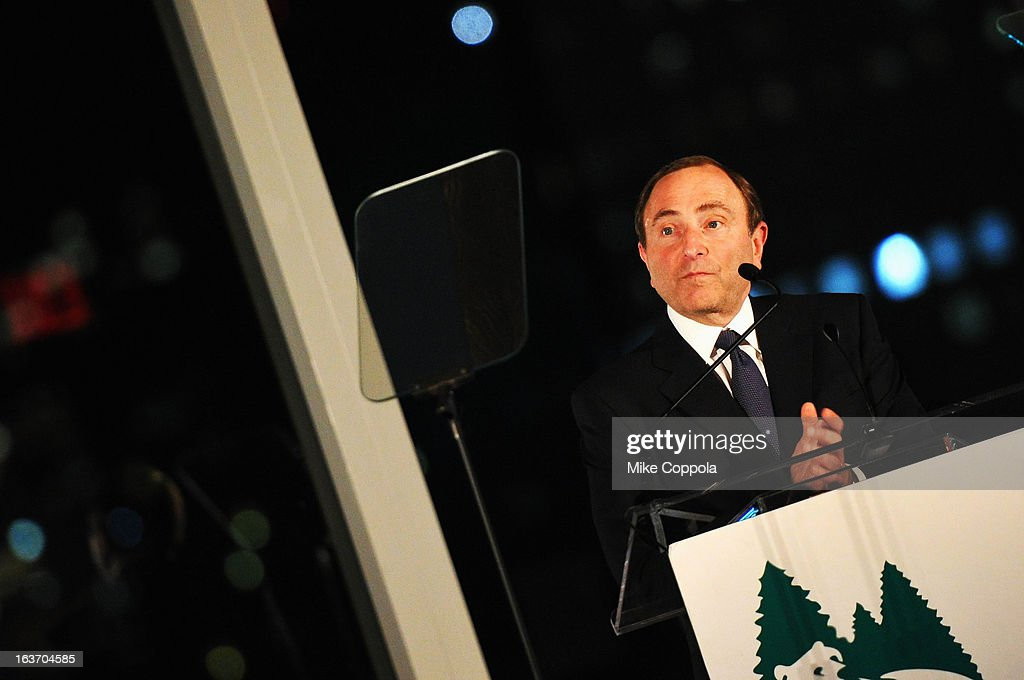 NHL Commissioner Gary Bettman attends the 2013 Natural Resources Defense Council Game Changer Awards at the Mandarin Oriental Hotel on March 14, 2013 in New York City.