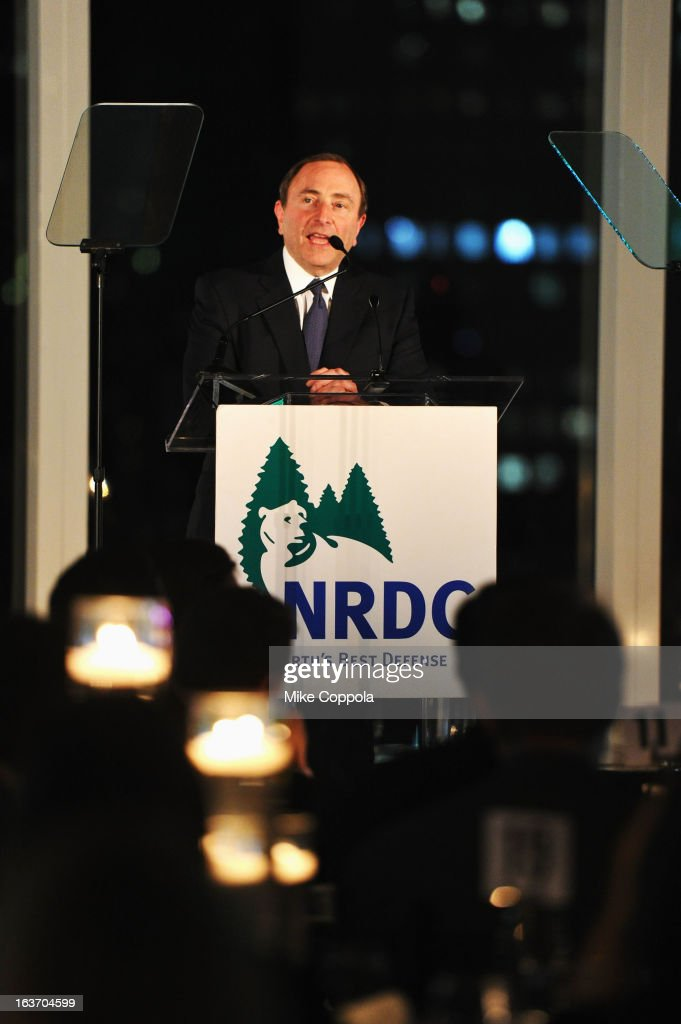 Commissioner Gary Bettman attends the 2013 Natural Resources Defense Council Game Changer Awards at the Mandarin Oriental Hotel on March 14, 2013 in New York City.