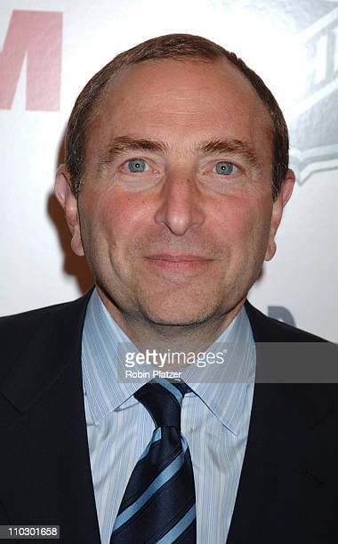 NHL Commissioner Gary Bettman during The NHL and FHM Magazine Celebrate The 20062007 Hockey Season at Marquee in New York City New York United States