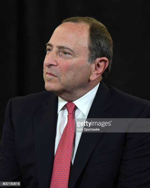 NHL commissioner Gary Bettman looks on prior to the first round of the 2017 NHL Draft on June 23 at the United Center in Chicago IL
