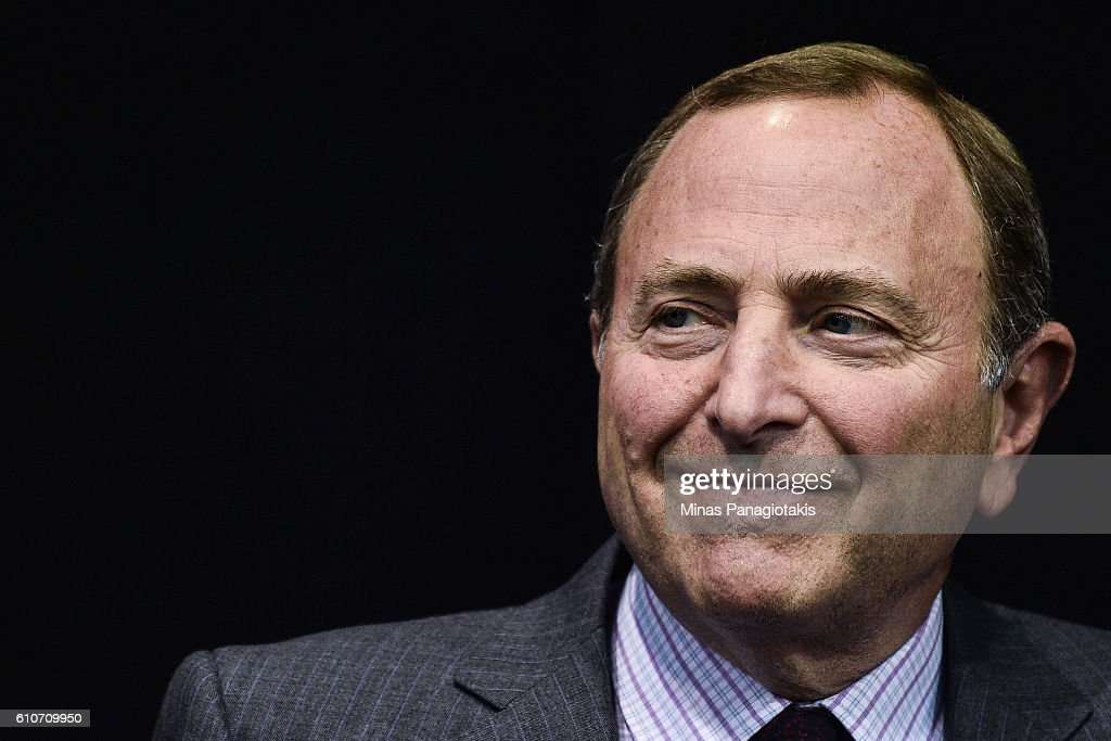 Commissioner Gary Bettman looks on prior to the League's Centennial celebration plans for 2017 during a press conference at the World Cup of Hockey 2016 at Air Canada Centre on September 27, 2016 in Toronto, Ontario, Canada.
