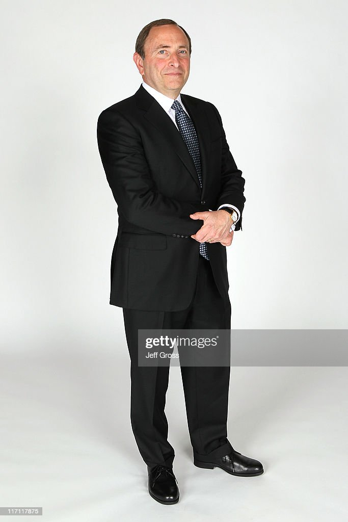NHL commissioner <a gi-track='captionPersonalityLinkClicked' href=/galleries/search?phrase=Gary+Bettman&family=editorial&specificpeople=215089 ng-click='$event.stopPropagation()'>Gary Bettman</a> poses for a portrait during the 2011 NHL Awards at the Palms Casino Resort June 22, 2011 in Las Vegas, Nevada.