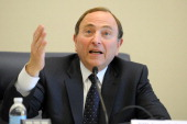 Commissioner Gary Bettman speaks during Congressional Hockey Caucus in the Rayburn House Office Building March 5 2014 in Washington DC Photo by...
