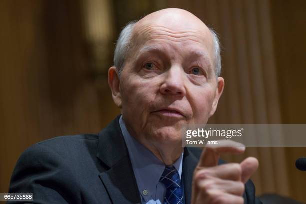 Commissioner John Koskinen testifies during a Senate Finance Committee hearing in Dirksen Building titled 'The 2017 Tax Filing Season Internal...