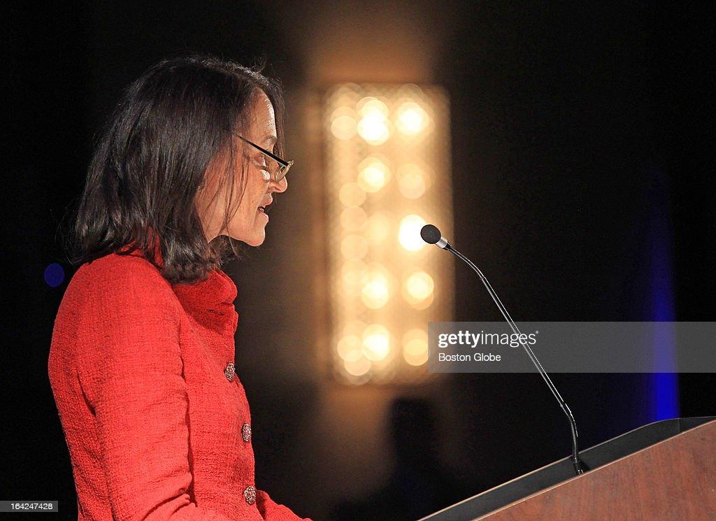 FDA Commissioner Margaret Hamburg delivers the keynote address to Massachusetts Biotechnology Council at the Royal Sonesta Hotel, March 15, 2013.