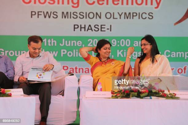 Commissioner of Delhi Police Amulya Patnaik Suchana Patnaik President PFWS and Dr Sushi Singh VicePresident PFWS during the Mission Olympics 2020...