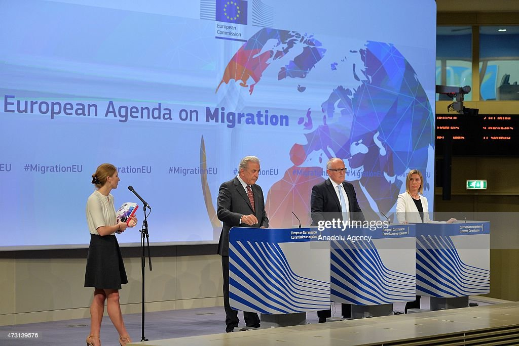 Commissioner of Migration and Home Affairs Dimitris Avramopoulos First VicePresident of the European Commission Frans Timmermans and High...