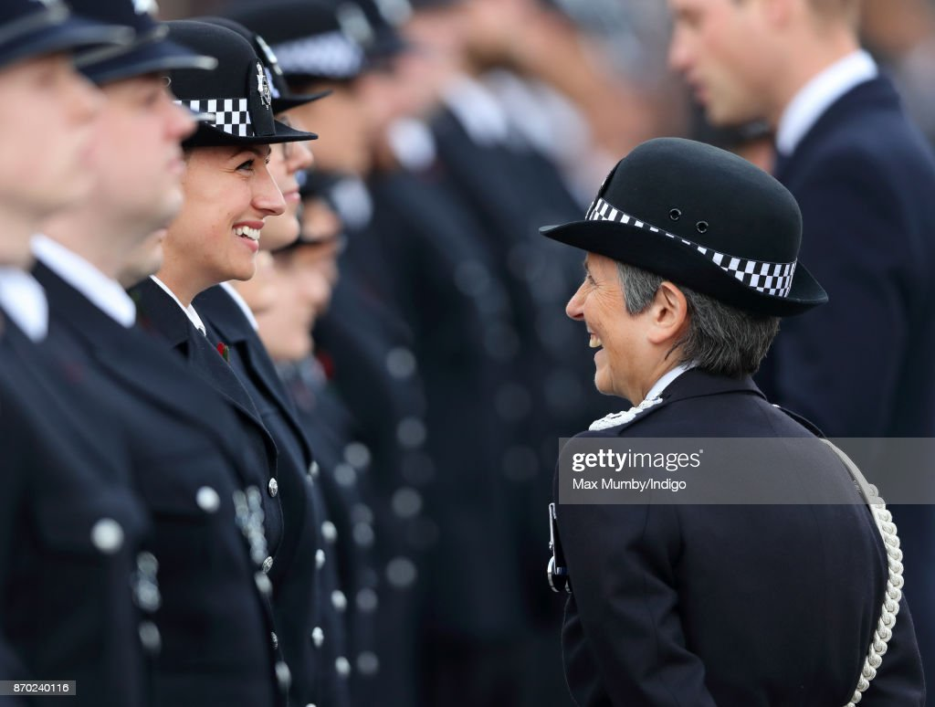 Commissioner of the Metropolitan Police Cressida Dick talks with graduating officers during the Metropolitan Police Service Passing Out Parade for new recruits at the Metropolitan Police Service Training College, Hendon on November 3, 2017 in London, England.