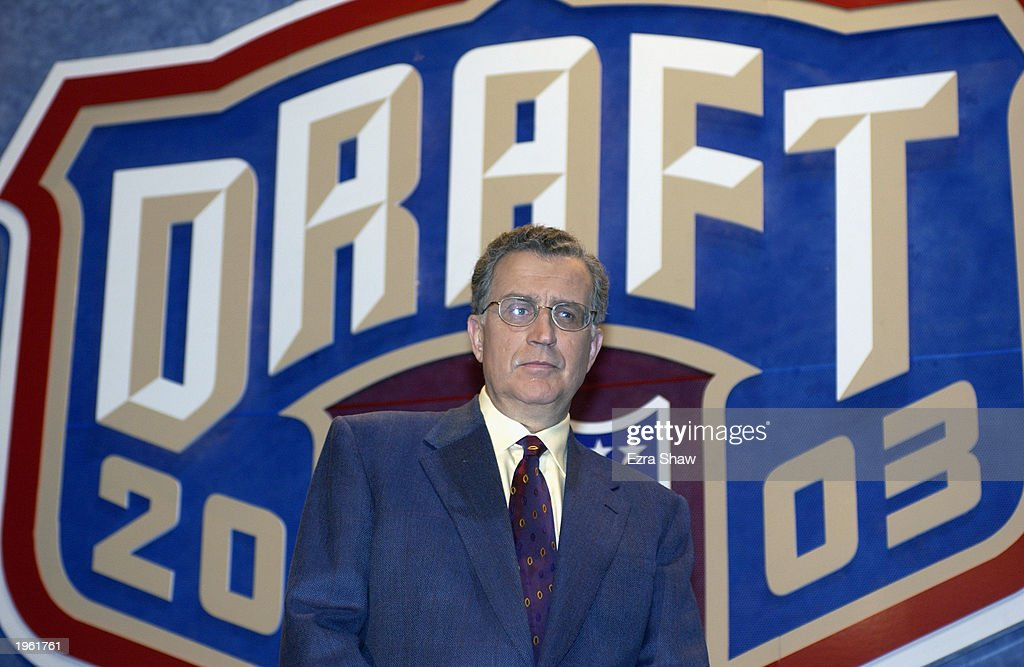 Commissioner Paul Tagliabue at the 2003 NFL Draft on April 26 2003 at Madison Square Garden in New York City