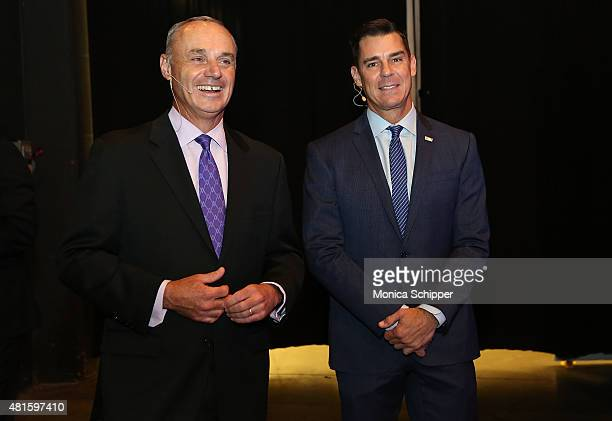 Commissioner Rob Manfred and Billy Bean Ambassador for Inclusion MLB attend the Beyond Sport United 2015 event on July 22 2015 in Newark City