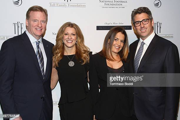 Commissioner Roger Goodell Sports journalist Bonnie Bernstein Laura Ziffren and CEO Wasserman Media Group Casey Wasserman attend the National...