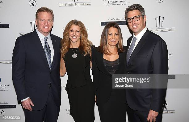 NFL Commissioner Roger Goodell Sports journalist Bonnie Bernstein Laura Ziffren and CEO Wasserman Media Group Casey Wasserman attend the National...