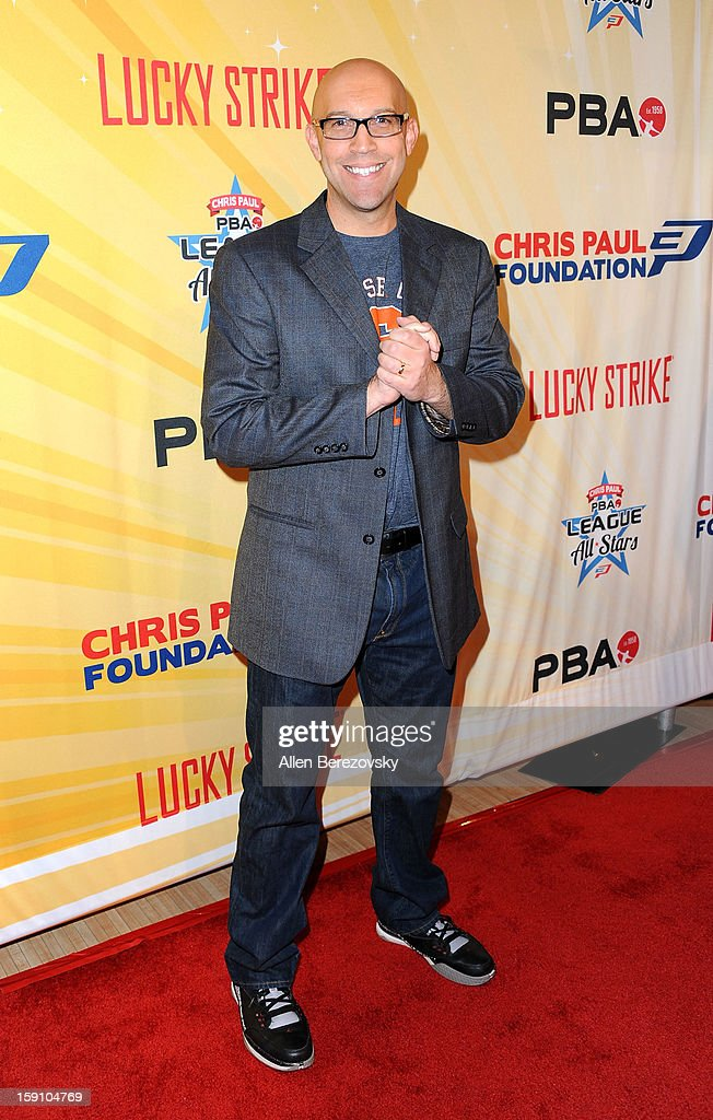 PBA commissioner Tom Clark arrives at the 5th annual Chris Paul PBA All-Stars Invitational hosted by LA Clippers star guard Chris Paul at Lucky Strike Lanes at L.A. Live on January 7, 2013 in Los Angeles, California.