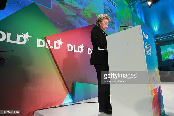 Commissioner Viviane Reding speaks during the Digital Life Design conference at HVB Forum on January 22 2012 in Munich Germany DLD is a global...