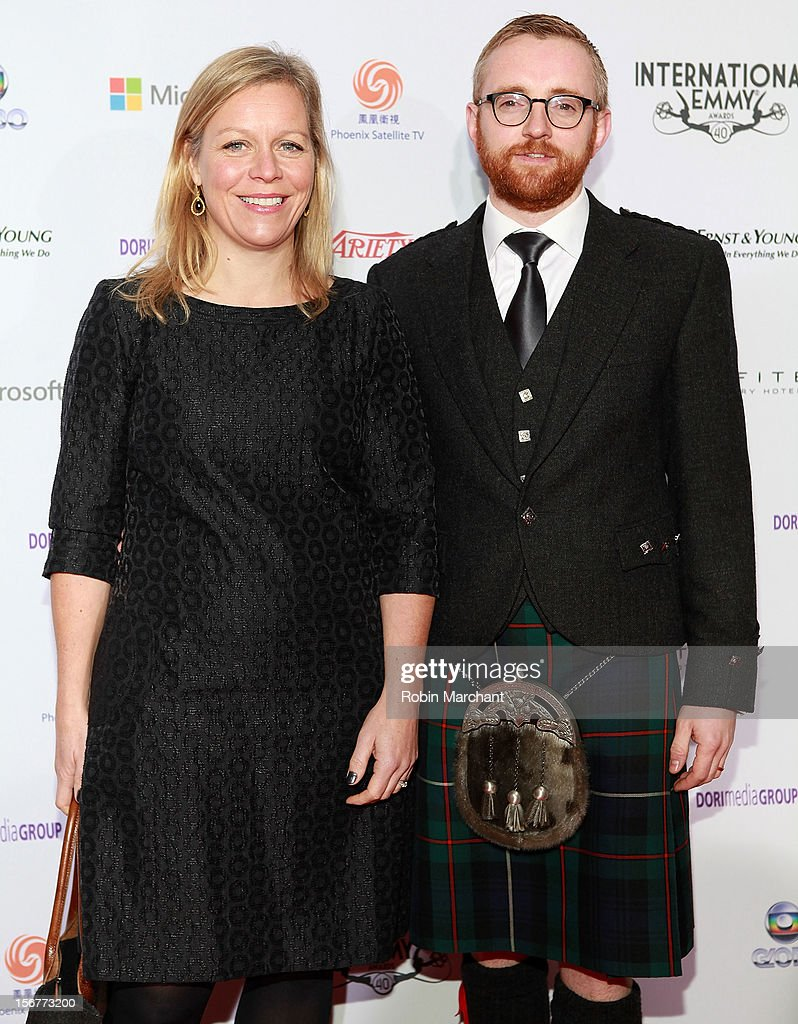 Commissioning editor Charlotte Moore (L) and executive producer Craig Hunter attend the 40th International Emmy Awards on November 19, 2012 in New York City.