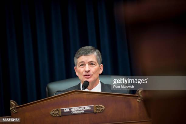 Commitee Chairman Jeb Hensarling questions Federal Reserve Board Chairwoman Janet Yellen as she testifies before the House Financial Committee about...