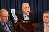 Committee chair Rep Tom Price speaks during a US House Budget Committee markup on the Concurrent Resolution on the Budget for FY 2016 on Capitol Hill...
