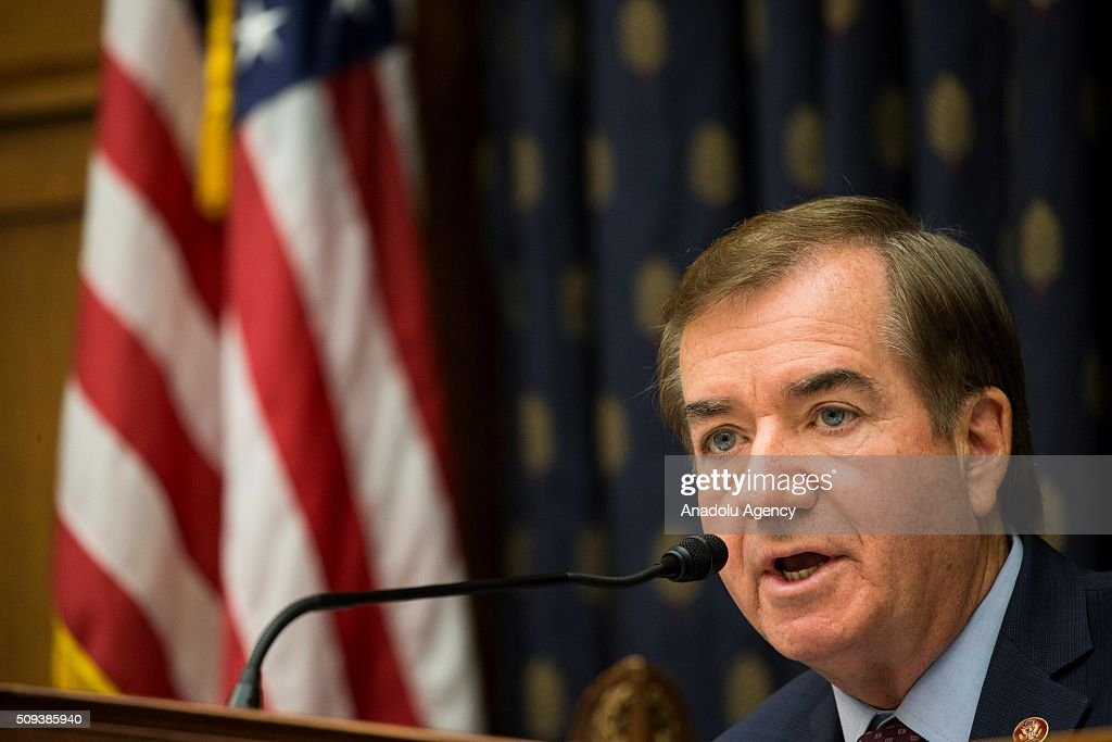 Committee Chairman Congressman Edward R. Royce questions Brett McGurk, Special Presidential Envoy for the Global Coalition to Counter Daesh, during a House Foreign Affairs hearing on From Iraq and Syria to Libya and Beyond: The Evolving Daesh Threat in Washington, USA on February 10, 2016.